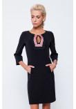Сукня чорного кольору з орнаментом та мереживом