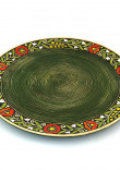"""Зелена таріль """"Віночок"""" (320 мм)"""