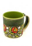 """Зелена чашка """"Віночок"""" (400 мл)"""