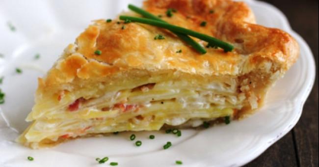 Пирог-кныш с картофелем>