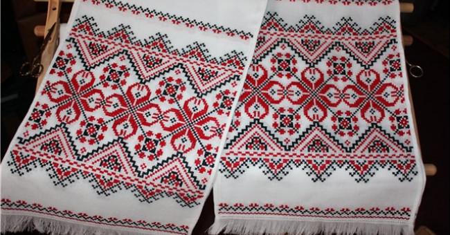 Символическое значение орнаментов украинских вышитых рушников>
