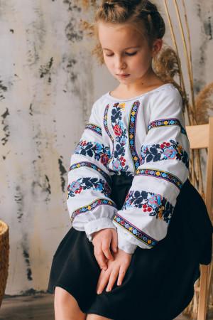 Вишиванка для дівчинки «Даринка» білого кольору