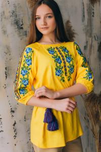 Вышиванка «Надежда» желтого цвета