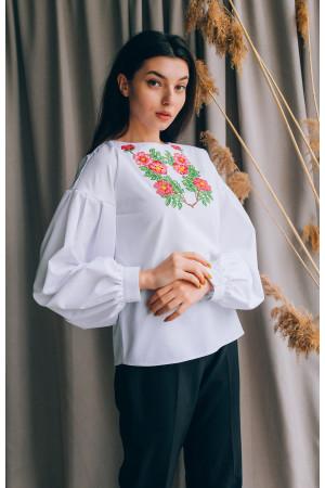 Вишиванка «Антоніна» білого кольору