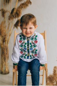 Вышиванка для мальчика «Тимко» белого цвета
