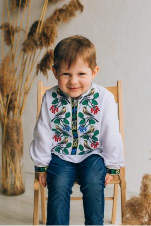 Вишиванка для хлопчика «Тимко» білого кольору