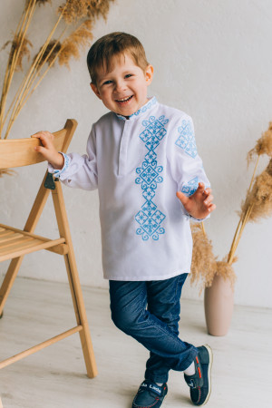 Вишиванка для хлопчика «Дмитрик» білого кольору