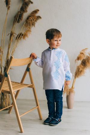 Вышиванка для мальчика «Дмитрик» белого цвета