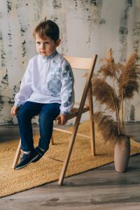 Вишиванка для хлопчика «Михайлик» білого кольору