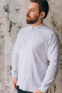 Вишиванка чоловіча «Броніслав» білого кольору