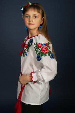 Вышиванка для девочки «Юленька» белого цвета