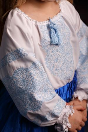 Вышиванка для девочки «Сусанна» белого цвета