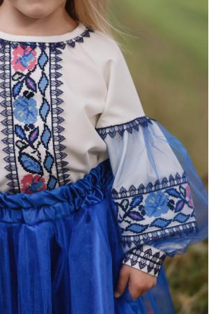 Вышиванка для девочки «Ипомея» белого цвета