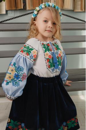 Вышиванка для девочки «Соломийка» белого цвета