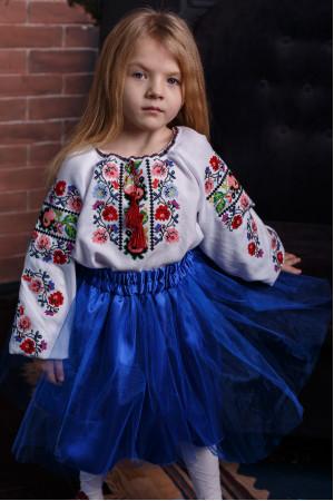 Вишиванка для дівчинки «Василина» білого кольору