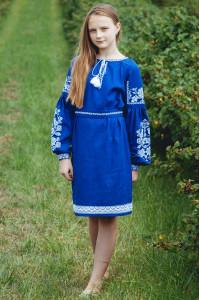 Платье для девочки «Танечка» синего цвета