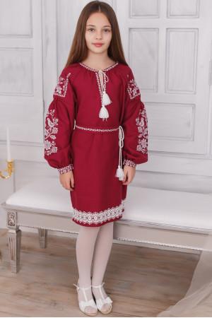 Сукня для дівчинки «Тетянка» бордового кольору