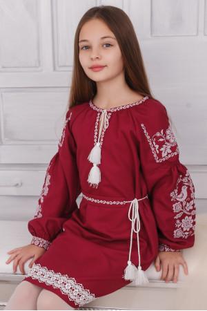 Платье для девочки «Танечка» бордового цвета