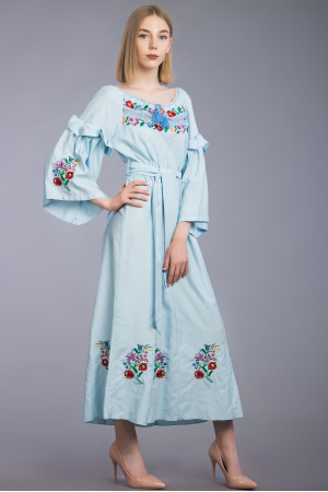 Сукня «Оксина» блакитного кольору