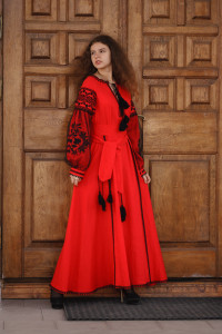 Платье «Рудана» красного цвета