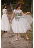 Сукня «Веснянка» молочного кольору