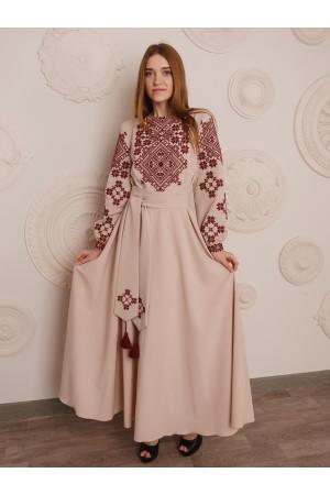 Сукня «Загадка» кольору пудри