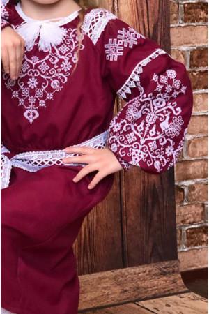 Сукня для дівчинки «Ліза» бордового кольору