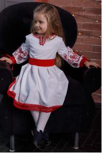 Платье для девочки «Ясинка» белого цвета
