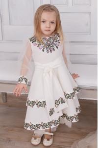 Платье для девочки «Вероника» белого цвета