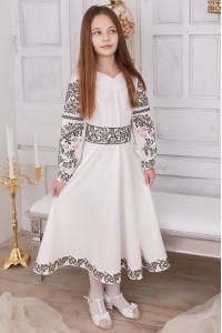 Платье для девочки «Варвара» белого цвета