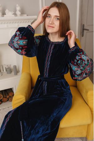 Платье «Анна» синего цвета