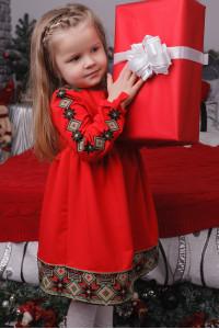 Сукня для дівчинки «Ясочка» червоного кольору