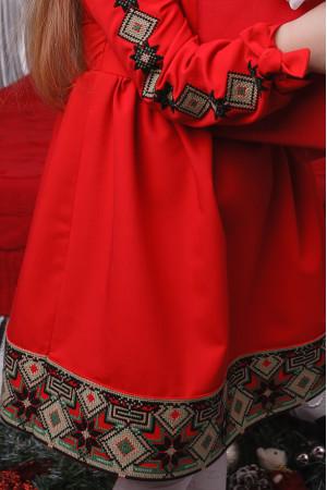 Платье для девочки «Ясочка» красного цвета