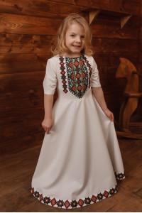 Платье для девочки «Ярослава» молочного цвета