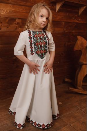 Сукня для дівчинки «Ярослава» молочного кольору