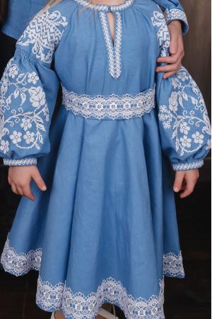 Сукня для дівчинки «Марійка» блакитного кольору