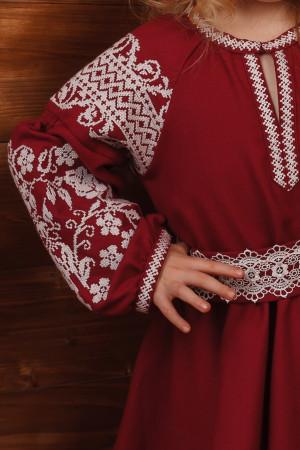 Сукня для дівчинки «Марійка» бордового кольору