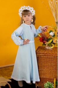 Платье для девочки «Марийка» светло-голубого цвета