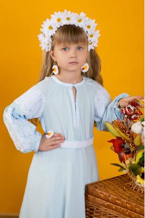Сукня для дівчинки «Марійка» світло-блакитного кольору