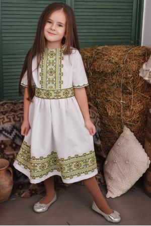 Платье для девочки «Яворина» белого цвета