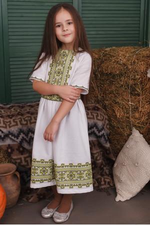 Сукня для дівчинки «Яворина» білого кольору