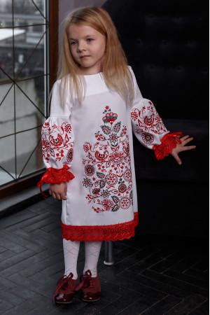 Сукня для дівчинки «Древо» білого кольору