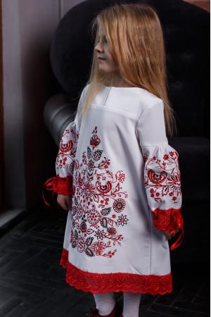 Платье для девочки «Древо» белого цвета