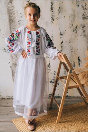 Платье для девочки «Лилиана» белого цвета