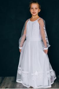 Сукня для дівчинки «Ангеліна» білого кольору