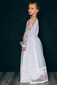 Платье для девочки «Ангелина» белого цвета