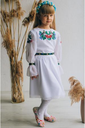 Сукня для дівчинки «Пташечки» білого кольору