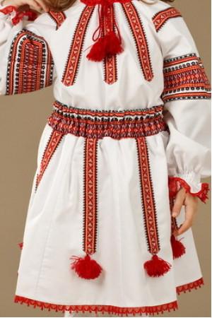 Костюм для девочки «Августина» белого цвета
