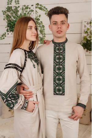 Вышитый комплект для пары «Яр и Лидия» бежевого цвета