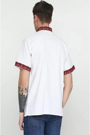 Вышиванка мужская «Слобода» с красно-черным орнаментом